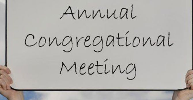 2020 Annual Congregational Meeting