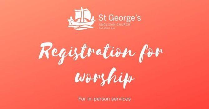 Registration for worship: Sept 13 at 10am image