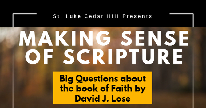 Register Now for Making Sense of Scripture image