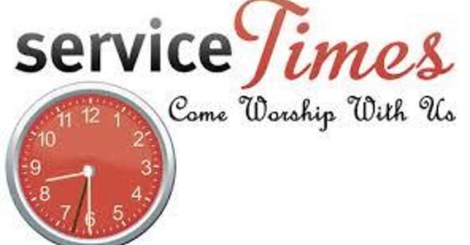 Sunday Service Time image