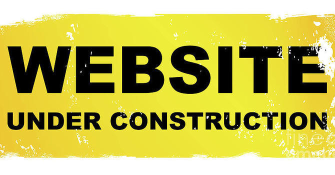 Website under construction image