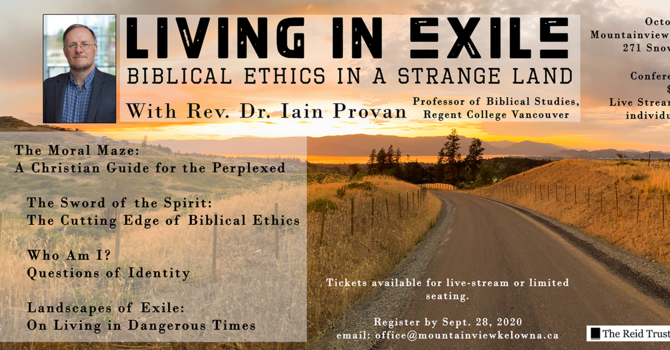 Upcoming Conference: Living in Exile image