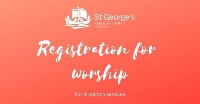 Registration for worship: Sept 20 at 8am image