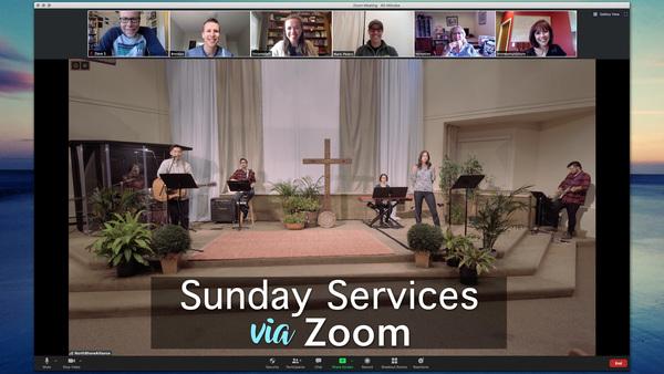 Sunday Services via Zoom