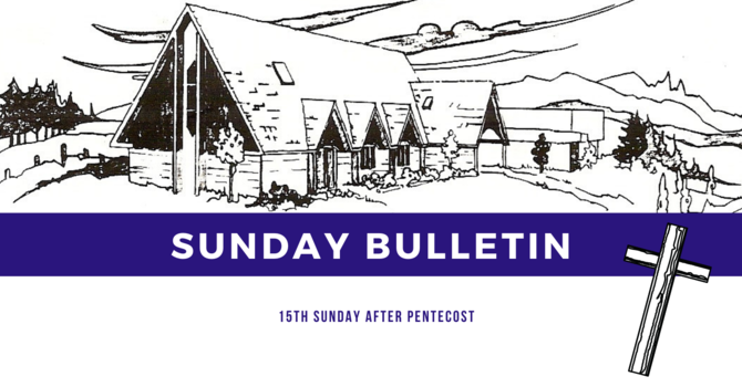 Bulletin - Sunday, September 13, 2020 image