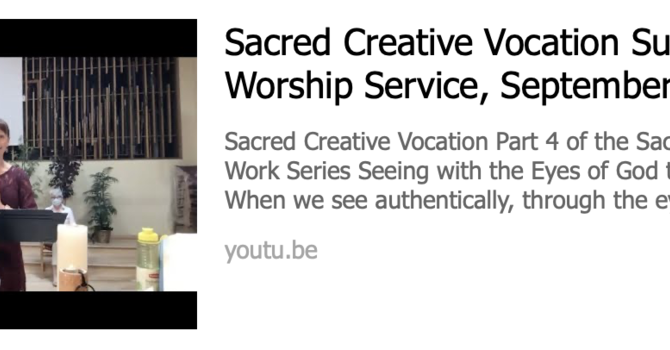 Sacred Creative Vocation