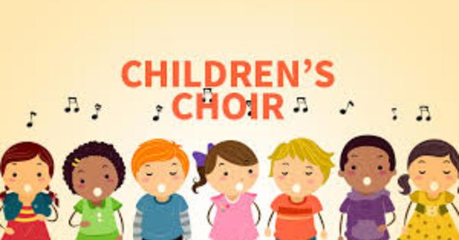 Children's choir begins image