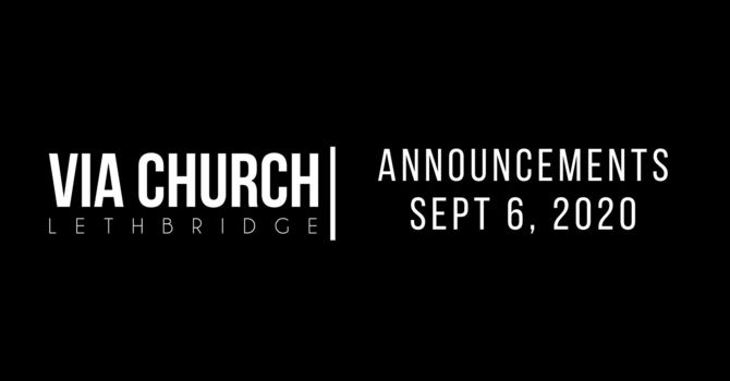 ANNOUNCEMENTS - Sept 6, 2020 image