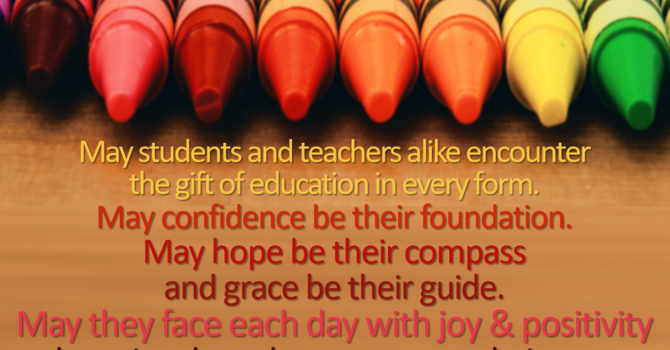 A Back To School Prayer for all our  Children. image