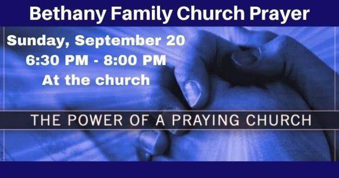 Bethany Family Church Prayer