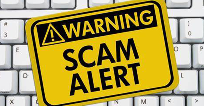 Beware of fraudulent emails in the Diocese of Ontario image