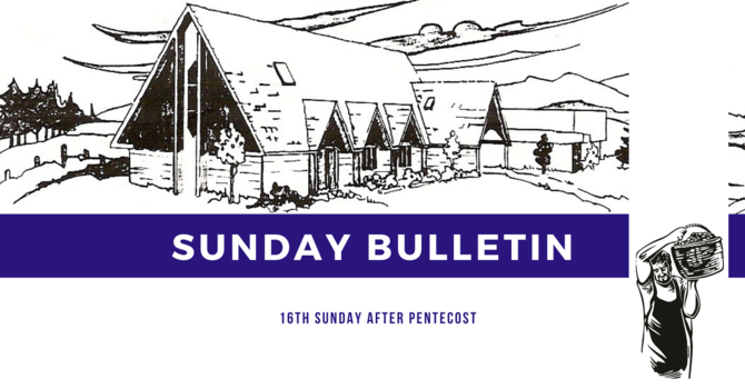 Bulletin - Sunday, September 20, 2020