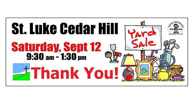 St. Luke's Yard Sale - Thank You!