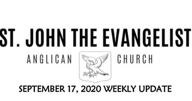 Weekly Update - September 17, 2020