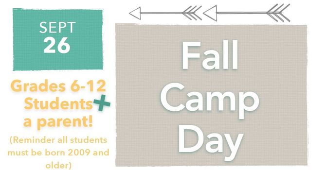 Youth Ministries - Fall Camp Day
