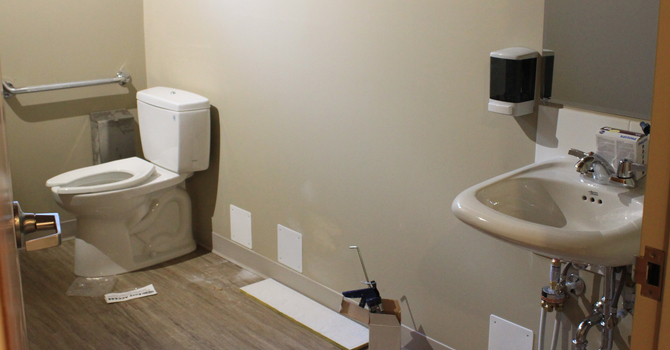 Accessible Washroom is almost complete! image