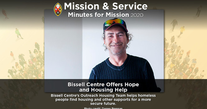 Minute for Mission: Bissell Centre Offers Hope and Housing Help