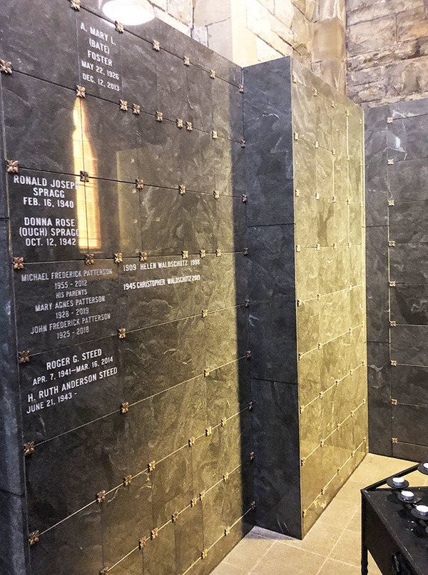Columbarium space available at Trinity Church