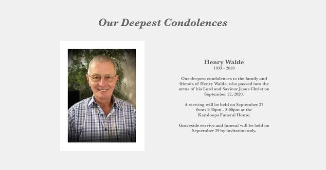 Our Deepest Condolences image