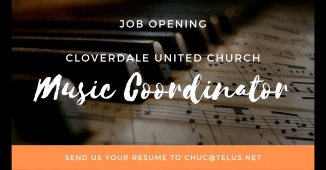 JOB OPENING - Music Coordinator image