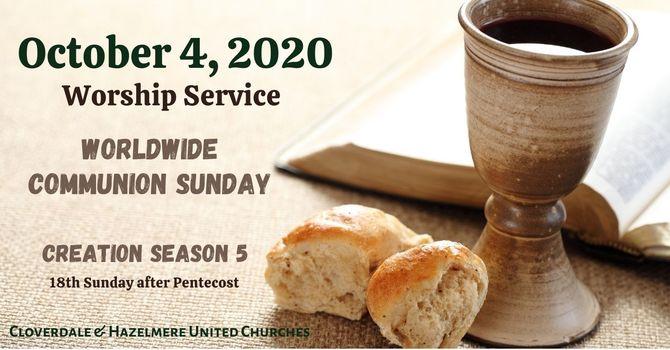 October 4, 2020 Worship Service image