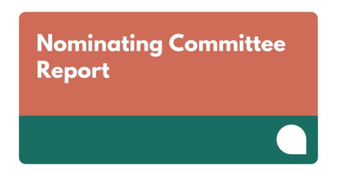 Nominating Committee Report
