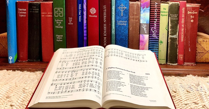 Hymnals in the Home image