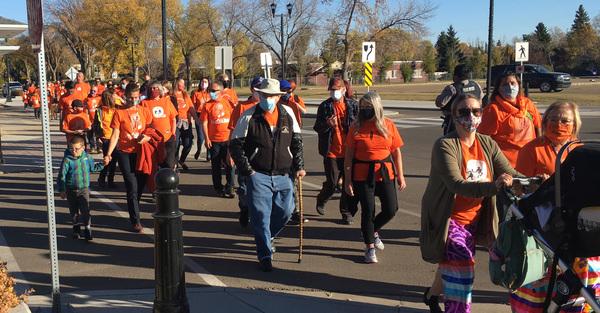Orange Shirt Day Walk in Wetaskiwin