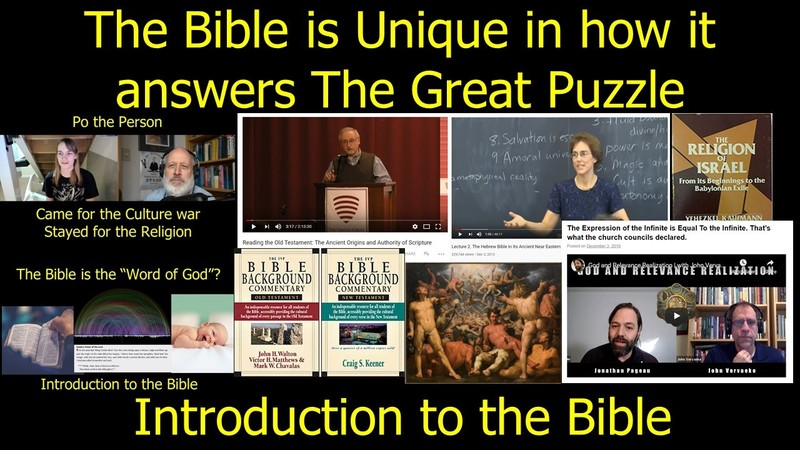 The Bible is Unique in the Way it Answers the Great Puzzle