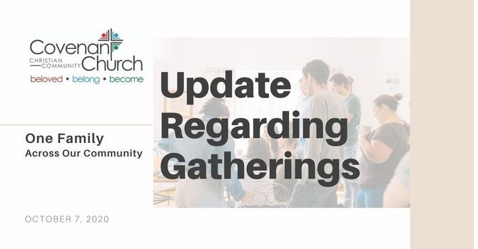 Important Update Regarding Gatherings image