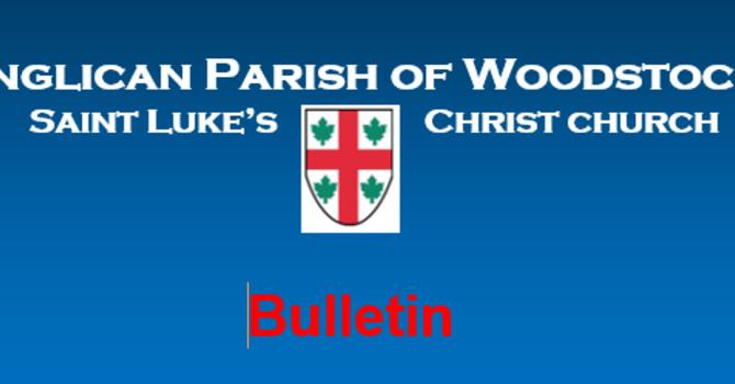 Bulletin for October 11, 2020 image
