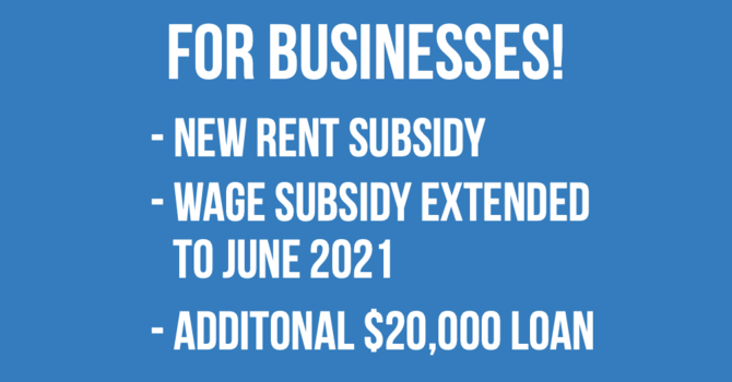 New Canada Emergency Rent Subsidy | Wage Subsidy extended | CEBA additional $20,000 loan image
