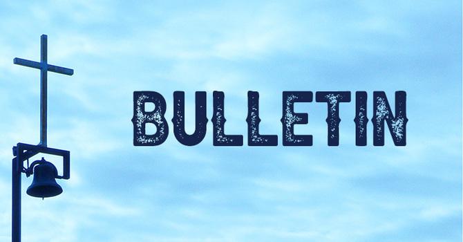 October 11, 2020 Bulletin image