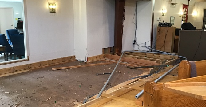 Renovations in our worship space! image