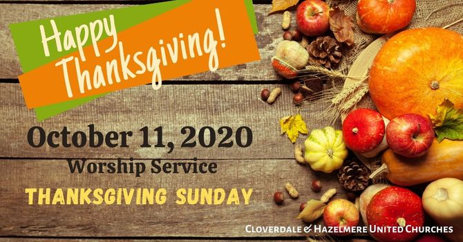 October 11, 2020 Thanksgiving Sunday image