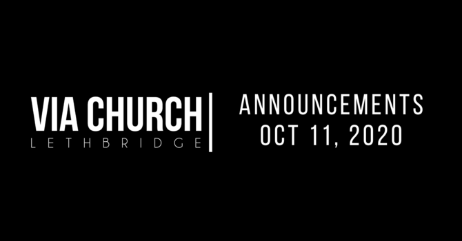 Announcements - Oct 11, 2020 image