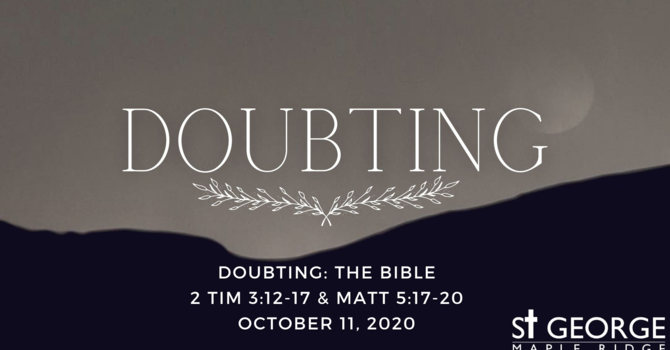 Doubting: The Bible image