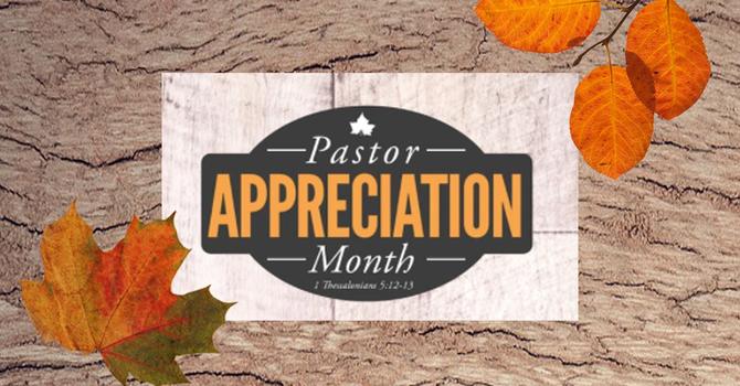 October is Pastor Appreciation Month image