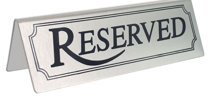 Fellowship Hall/Kitchen Reserved
