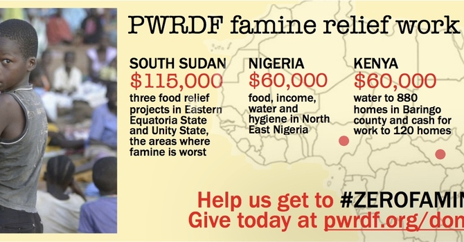 UPDATE: PWRDF Famine Relief Matching Funds