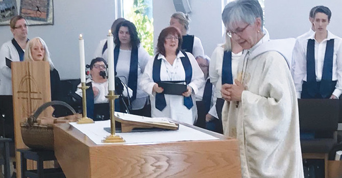 Archbishop Skelton Dedicates Renewed Wood for a Renewal Centre image