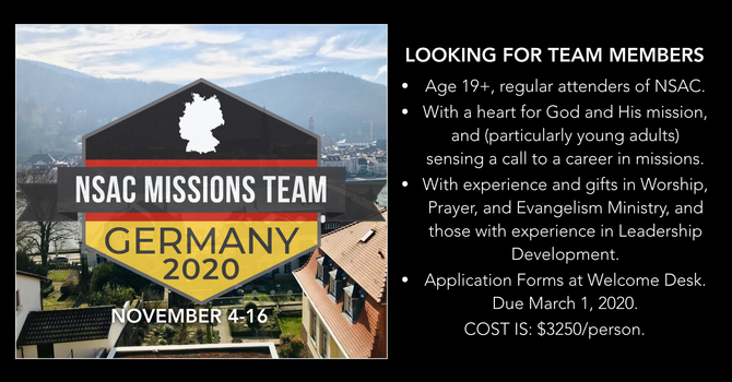 Germany Missions Trip 2020 image