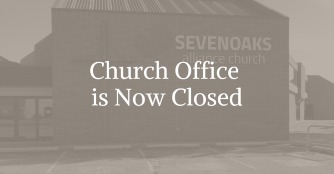 Church Office is now closed but you can still reach us image