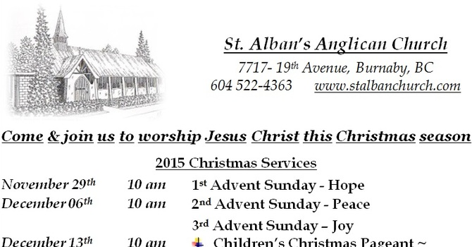 Advent and Christmas Services image
