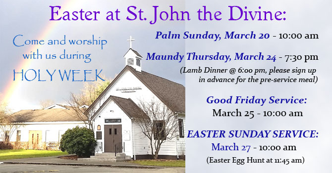 EASTER & HOLY WEEK at St. John's