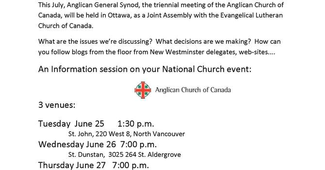 "General Synod ""Joint Assembly"" Info Sessions with the Venerable Lynne McNaughton image"