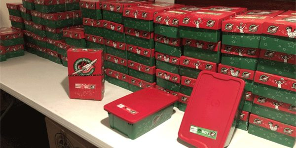 Picking Up Christmas Boxes