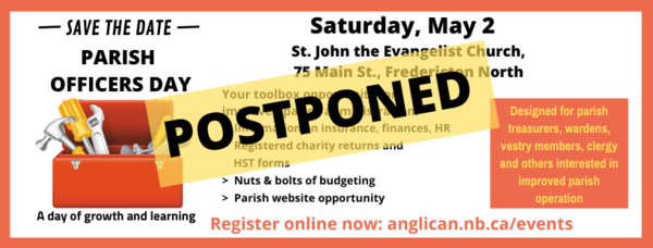 Parish Officers Day - postponed