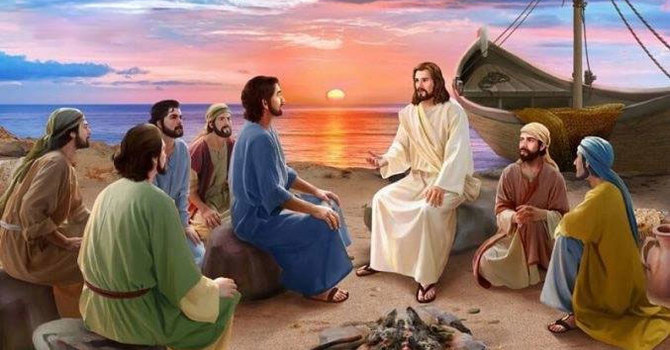 John 21: 1-17 and Psalm 25:1-7 image
