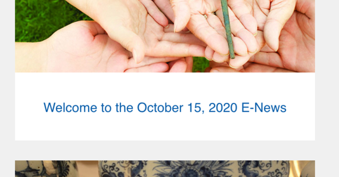 Link to October 15, 2020 E-News image